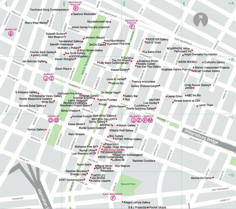 Map from www.lowereastsideny.com